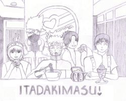 Shippuuden: Itadakimasu Sketch by flyingdown2011