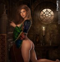 medieval pinup by Fygomatic