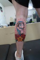 Pray For Me Mario by Lucky-Cat-Tattoo