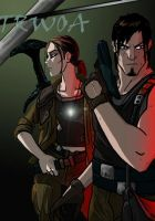 Lara Croft and Kurtis Trent by HalUet