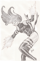 Ms. Marvel / Psylocke Inspired Character Drawing by hososoki