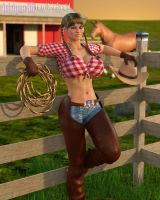 Commission: Cowgirl by Supro3D