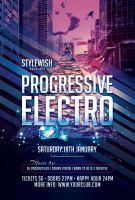 Progressive Electro Flyer by styleWish