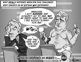 Ron Paul PWNS Newt Gingrich - Baby Newt by Studion8