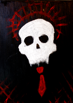 Holy gentleman skull by Atzuni