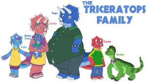 Triceratops family by MCsaurus