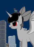 Dark Yuka Rampages Through The towers of lilliput by TroyJr24
