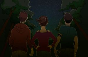 Teen Wolf Night Sky by Youko-Shirokiba