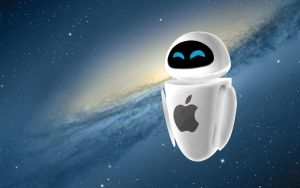 WALL-E EVE Apple Wallpaper by LindsayCookie