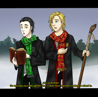 HP Loki and Thor by Cristina-Corruptive