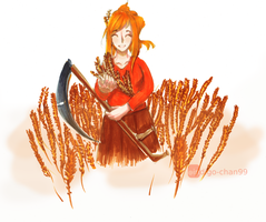 Happy Harvest/Thanksgiving! by indigo-chan99