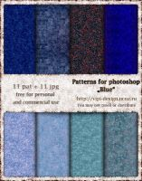 Patterns for photoshop - Blue by elixa-geg