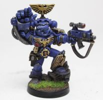 Ultramarine's Captain With Power Fist by jstncloud