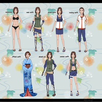 Some outfits by AnimeshkaNy