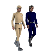 Galactic Officer General- tan and blue by vilmur