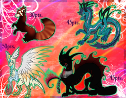 Dragon Adopts Batch ALL TAKEN by Yorialu