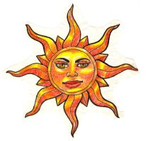 sun tattoo design by Deborah-Valentine