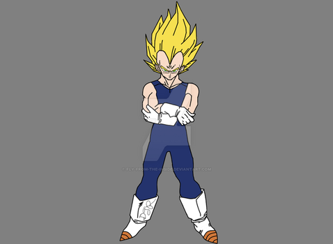 Majin Vegeta by Fly-From-The-Inside