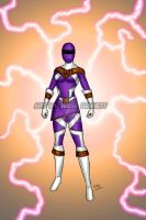 Mighty Morphin Power Rangers Zeo (Purple Ranger) by blueliberty