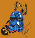 Finn And Owls Yellow by EhhWint