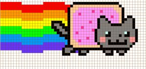 Nyan Cross Stitch Pattern by moonprincessluna