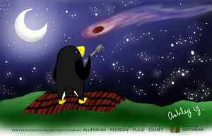 Penguin Astronomy by coffeandflowers