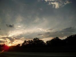 Sunset on the Road by VTech7