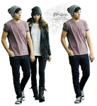 Louis and Eleanor render [.png] by Ithilrin by Ithilrin
