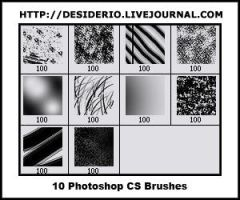 Photoshop CS Textured Brushes by langedelamusique