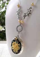 Necklace Vintage Rose Bouquet by Jin-ju
