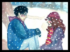 Harry and Hermione by kiwikewte