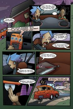 Gravity Girl Page Four by JeremyTreece