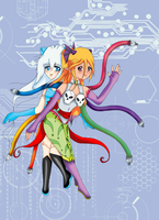 Android girls by angelbunny1391