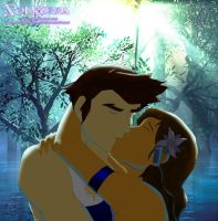 Korra and Mako Kiss in The Swamped by SolKorra