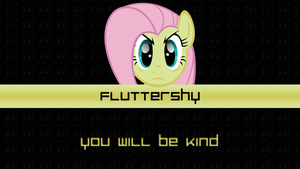 Angry Stare Fluttershy by pims1978