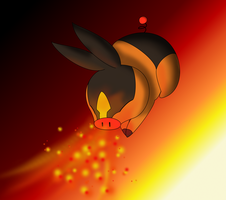 Tepig use ember by RabiesGirl