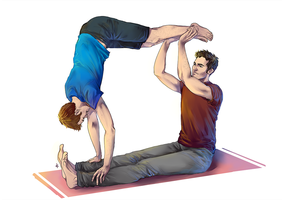 Commission: Sterek Yoga by NinaKask