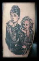 Hepburn and monroe by state-of-art-tattoo