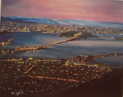 San Francisco my painting by cliford417