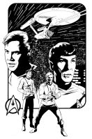 Star Trek line art by stevescott