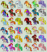 Free Pony Adopts! by Hyper-Pixel
