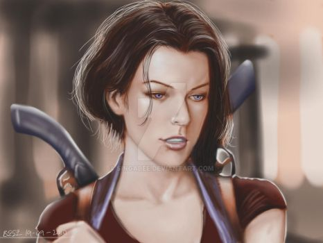 Alice Resident Evil Afterlife by Singabee