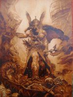 frazetta by burninginkworks