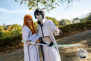 Ulquiorra and Orihime Cosplay 1 by Asteria91