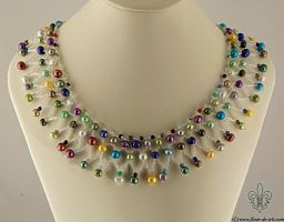 Beach carnival necklace N1321 by Fleur-de-Irk