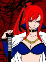Erza (Lineart by AkilaChione) by zombieusagi