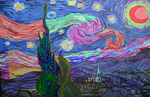 Corrupt Starry Night by StageTheHatter