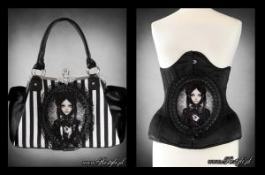 Grey Doll Handbag and Belt by Euflonica