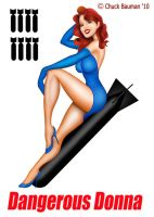 Bomber Nose Art Pinup Donna by Chuck-Bauman
