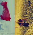 The red Scarf II by Atreja
